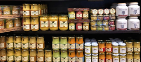 douce france- mustard shelves
