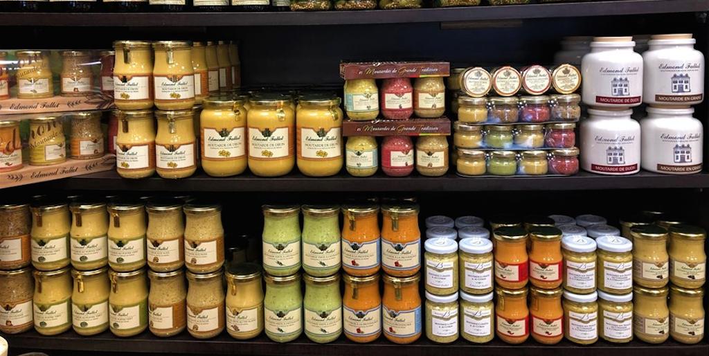 douce france- mustard shelves
