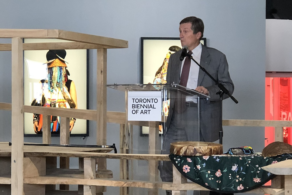 Mayor Tory at Toronto Biennial of Art