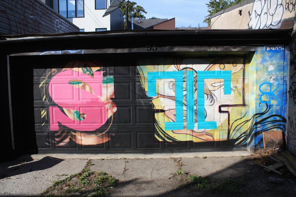 Laneway street art near Ossington