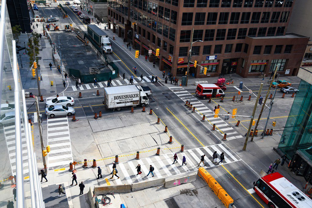 Intersection at Yonge and Eglinton