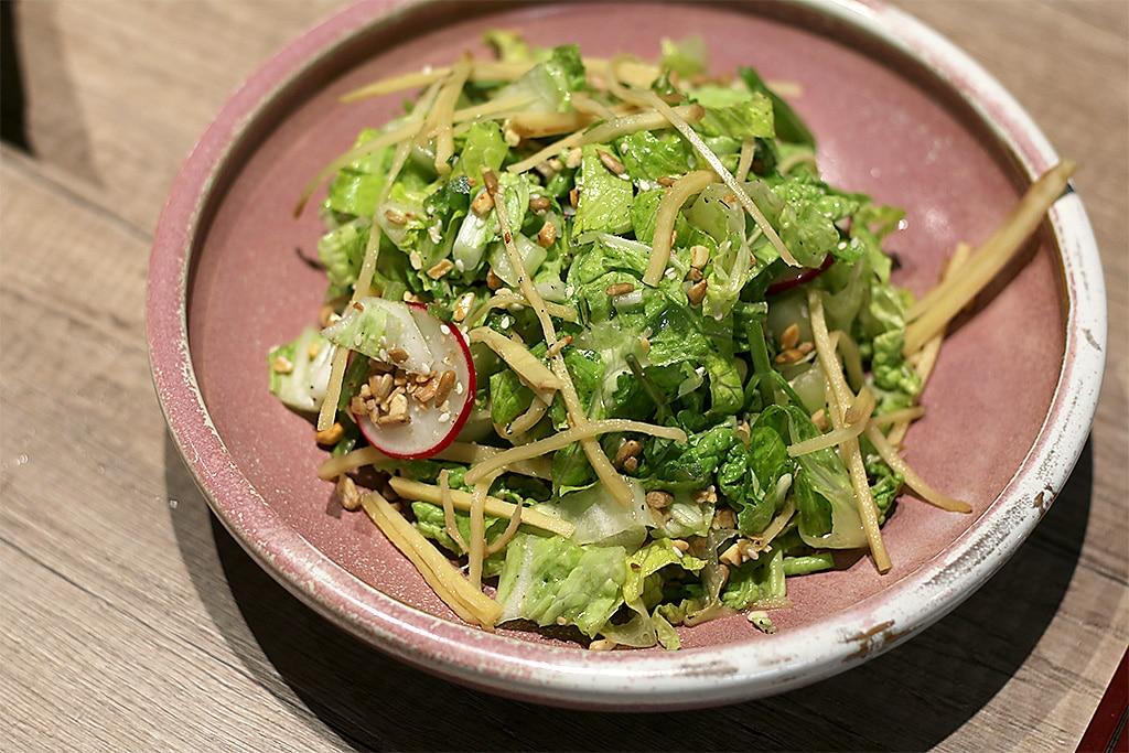 Popa pickled ginger salad
