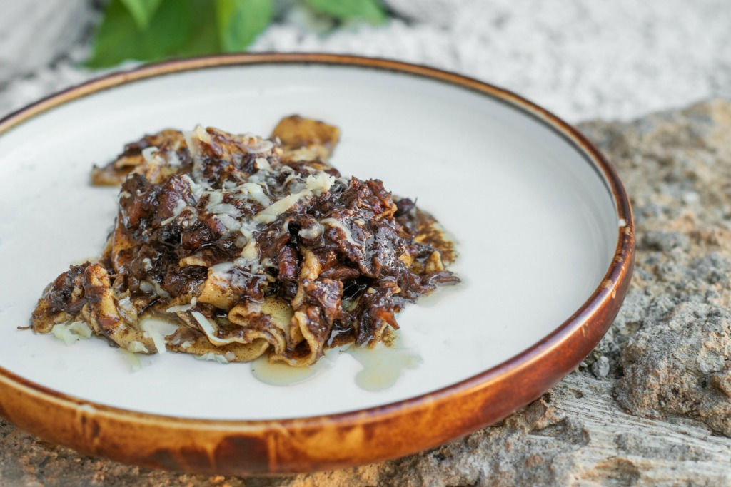 chef Adrian forte's oxtail pappardelle