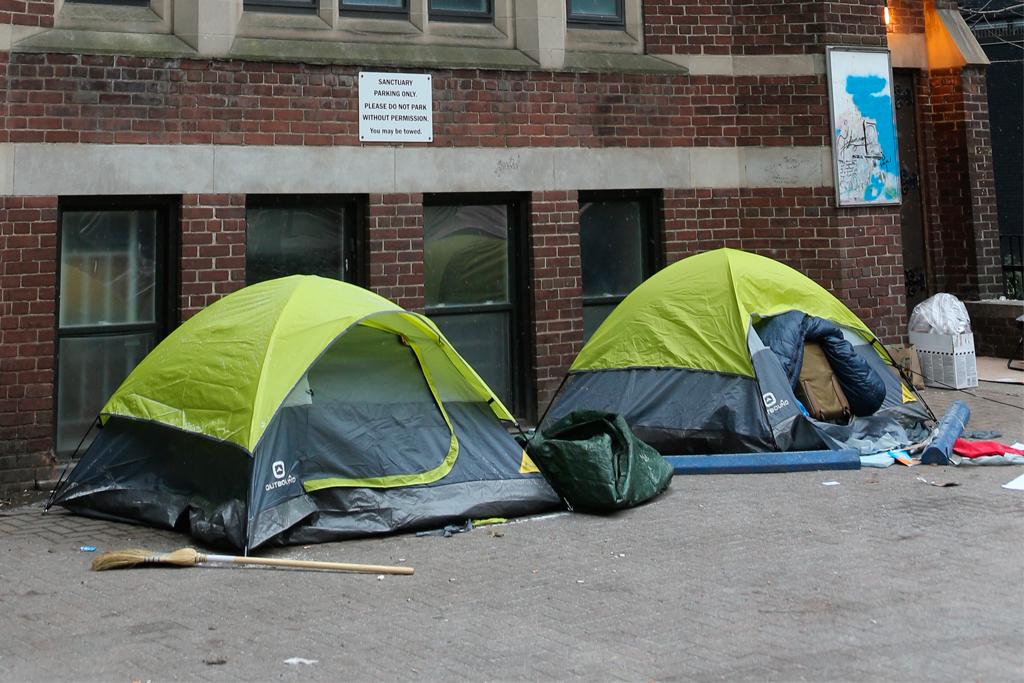 homeless tents Toronto