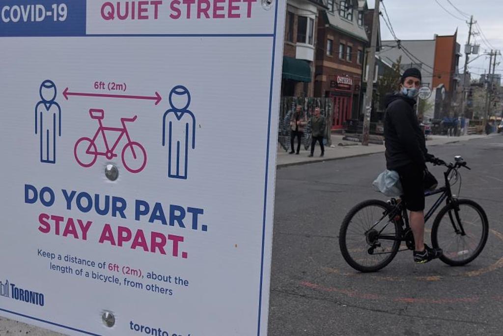 quiet streets sign