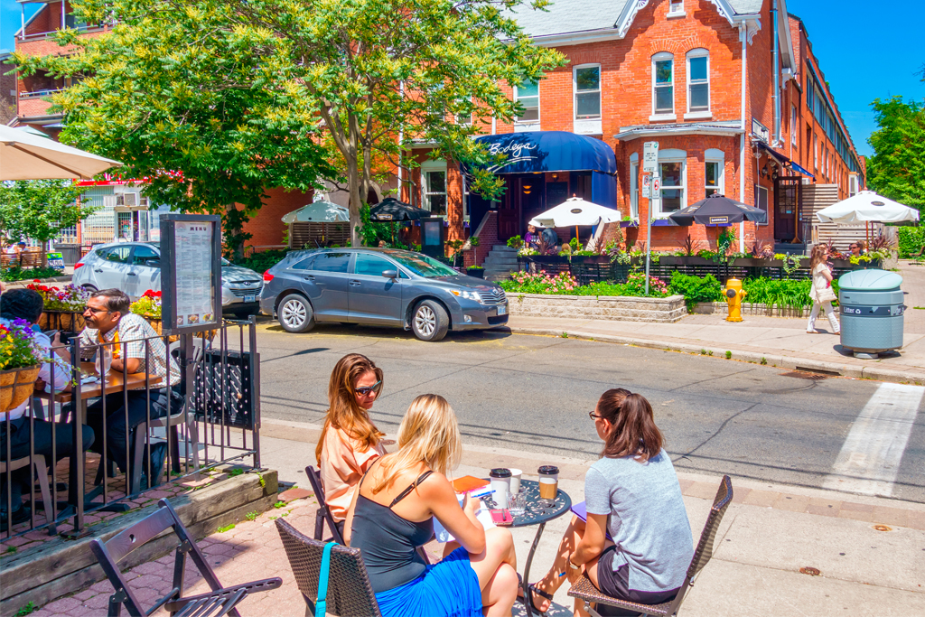 patios and bike lanes
