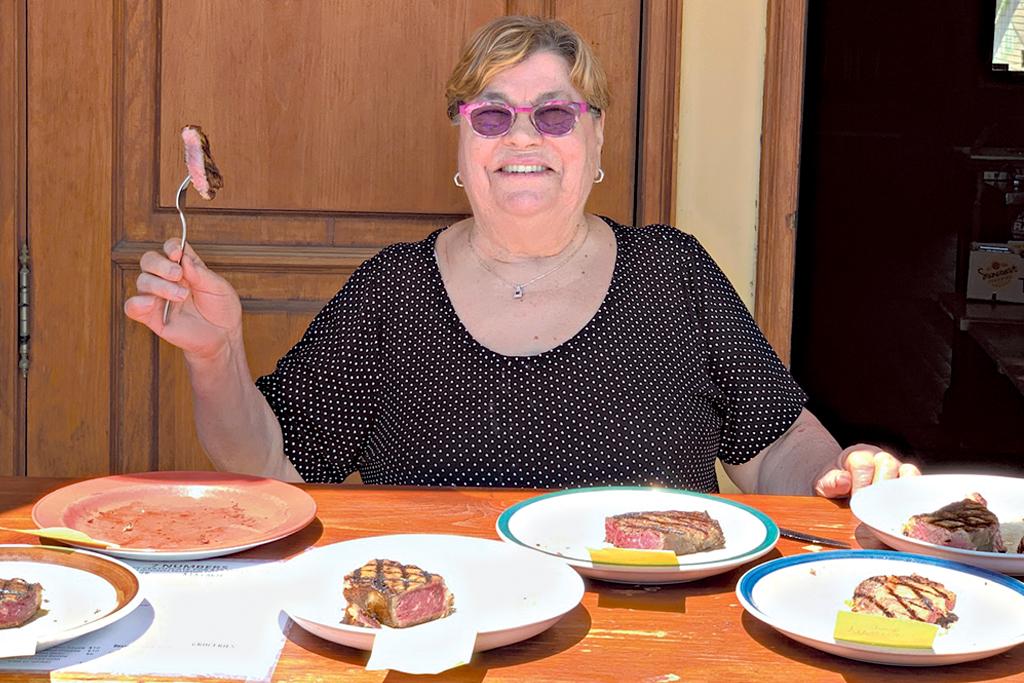 rosa marinuzzi strip loin steaks