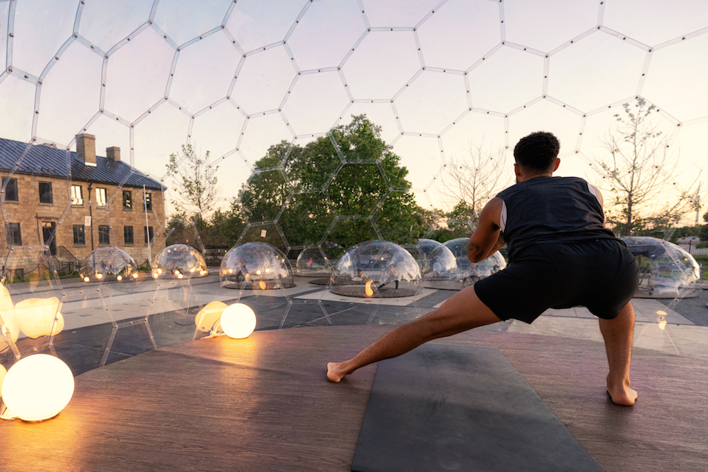 lmnts outdoor yoga dome