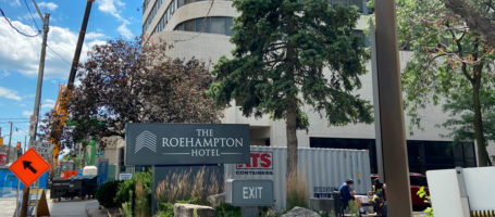 Roehampton Hotel turned homeless shelter