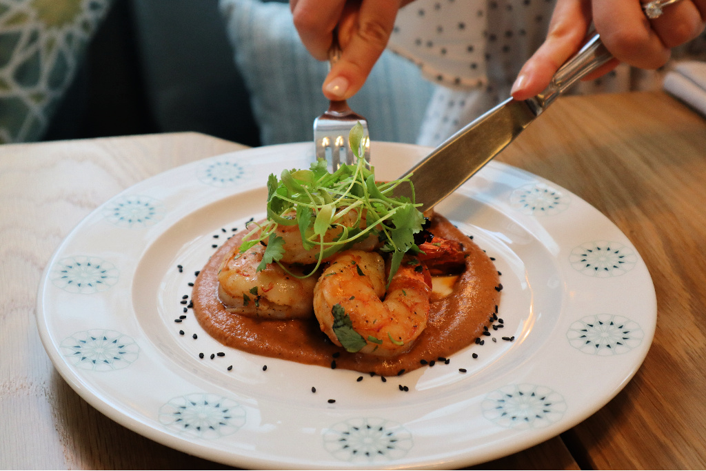 Amal Toronto grilled tiger shrimp