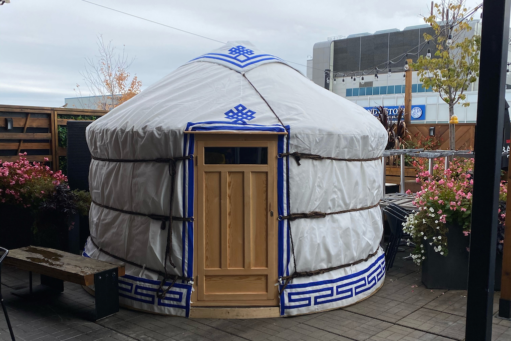 Amsterdam patio yurt