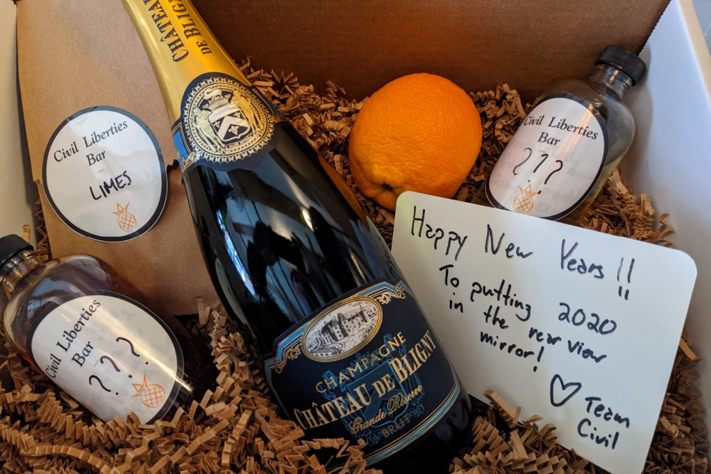 Civil Liberties' new years eve cocktail kit