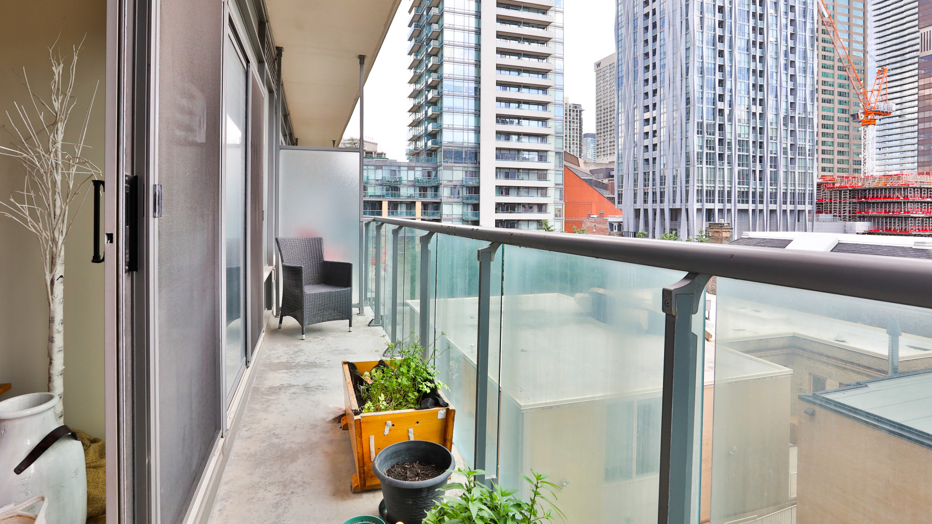 A photo of the balcony
