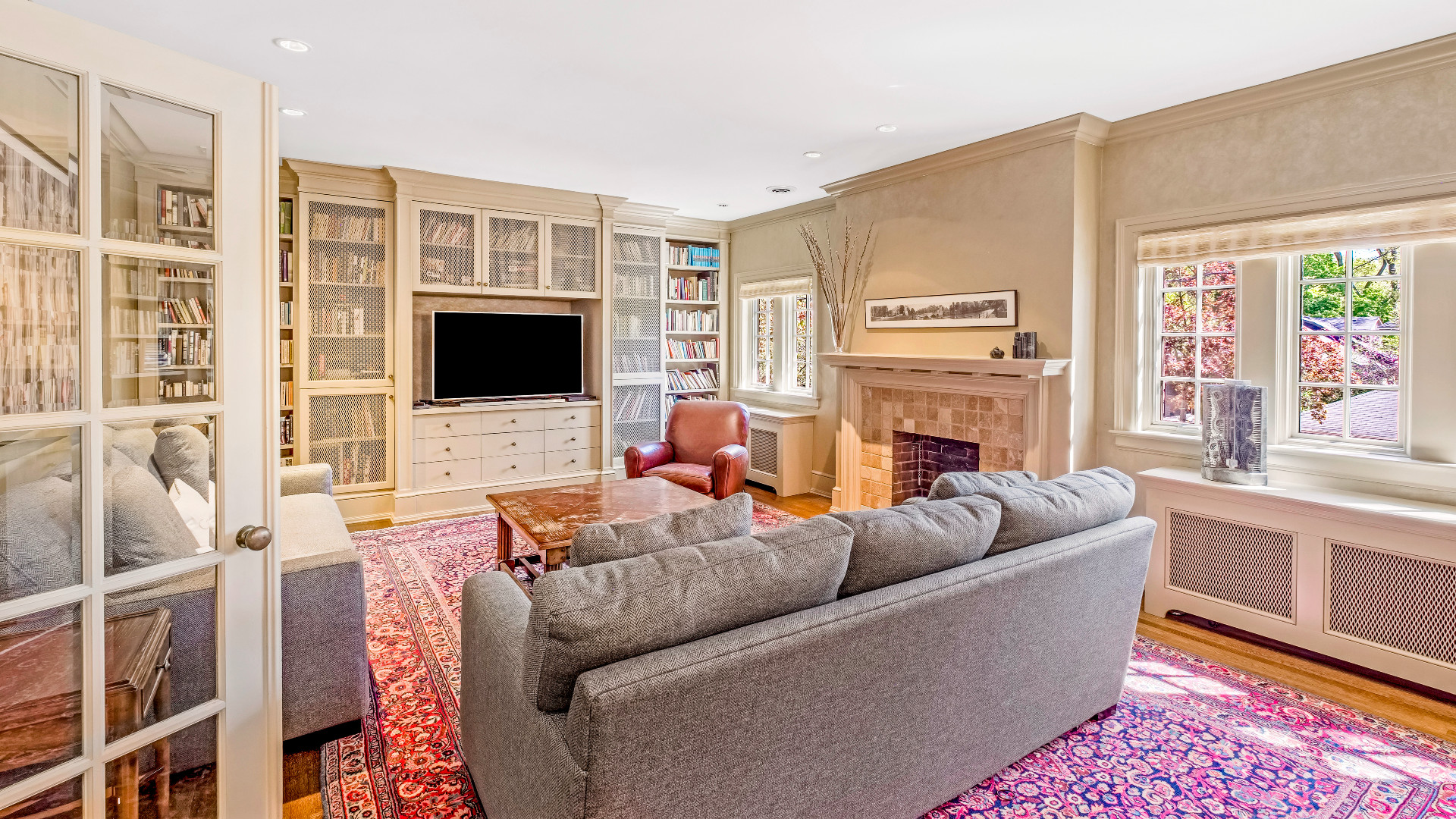 A photo of the family room.