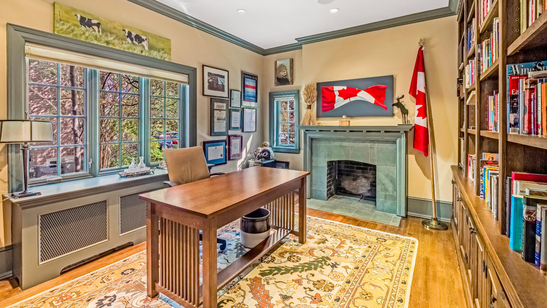 A photo of the main home office.