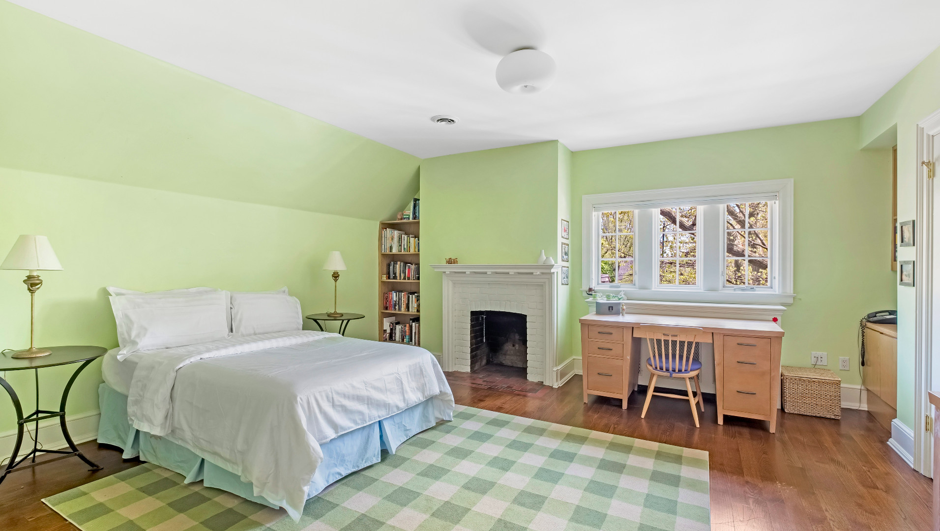 A photo of one of the third floor bedrooms.