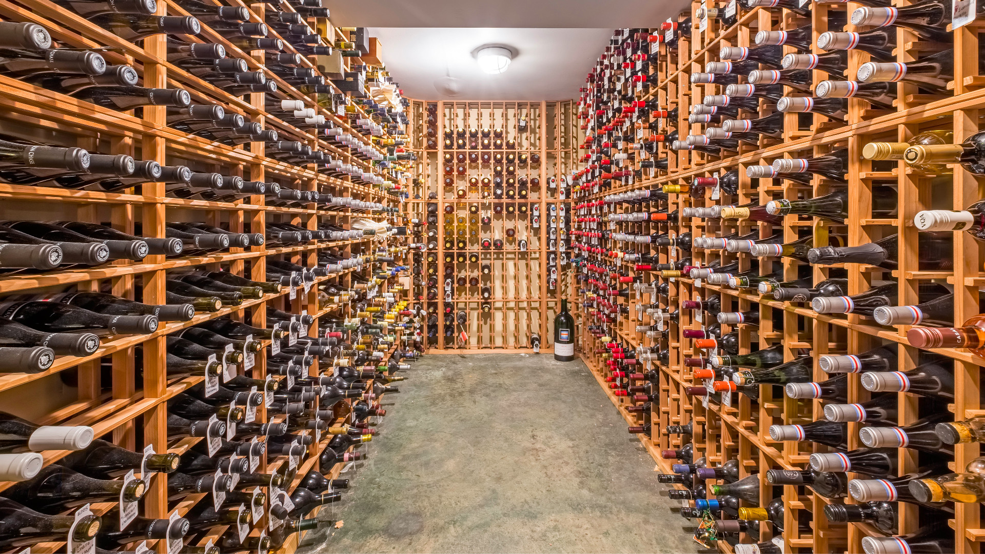 A photo of the wine cellar.