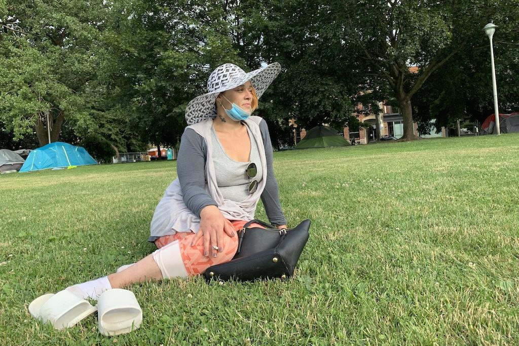 Sasha from homeless encampment