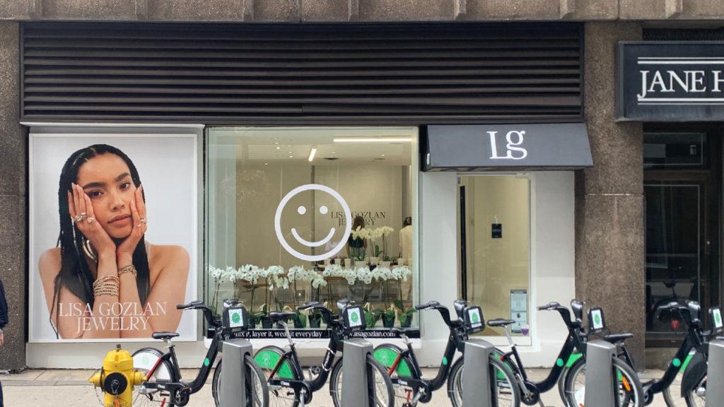 A photo of the Lisa Gozlan storefront on Cumberland St.