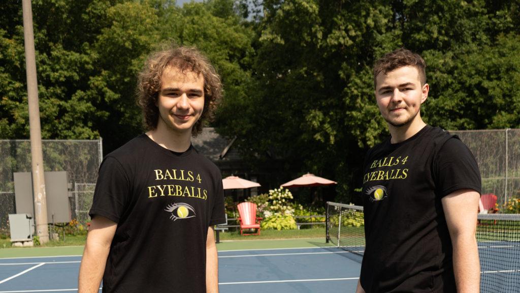 Waisberg brothers tennis balls charity